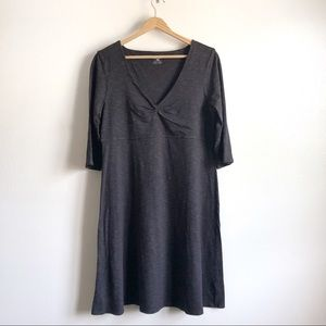 Horney Toad charcoal gray flare midlength dress